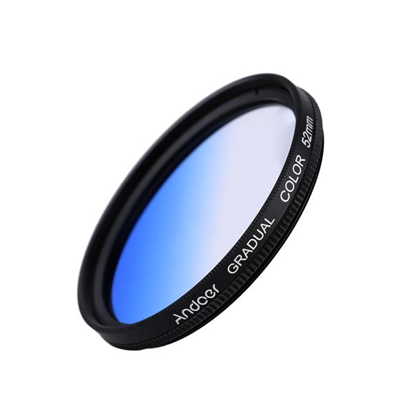 Andoer Professional GND Graduated Blue 52mm Filter Graduated Neutral D