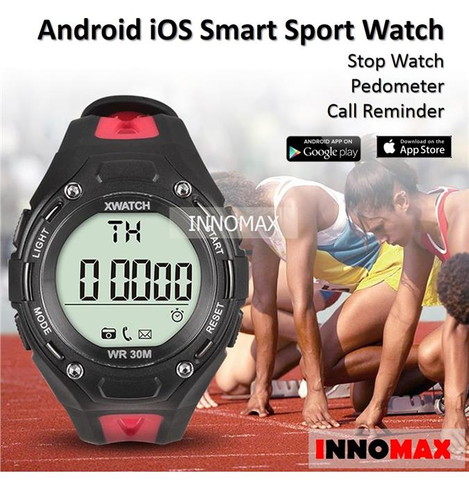 Android iOS xwatch Smart Sport Watch - Pedometer Water Resistant