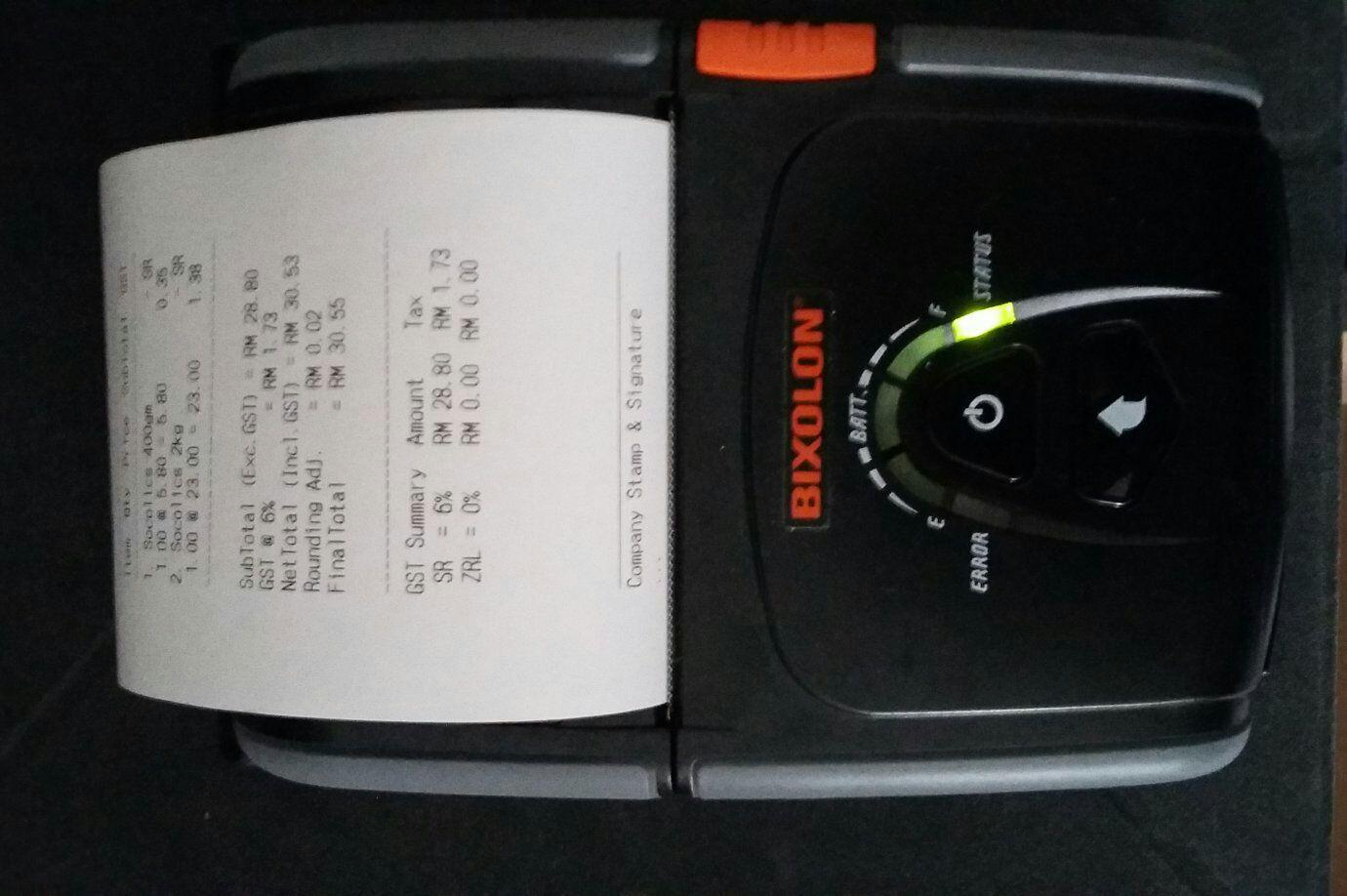 Android Mobile POS come with Bixolon 3in Mobile Printer