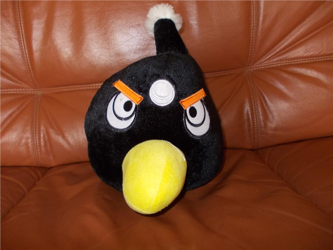 angry bird black 45cm wide