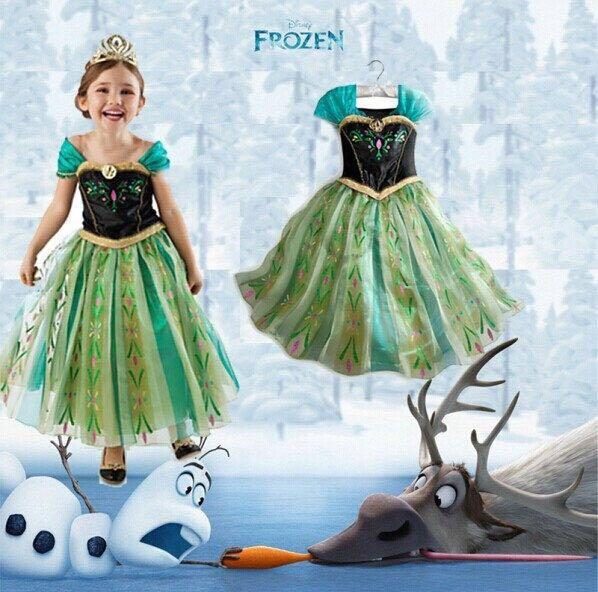 ANNA GIRL DRESS ** FREE CROWN** 冰雪奇缘&#3503