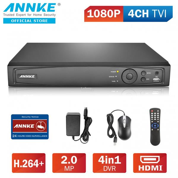 ANNKE 16CH 1080P 2MP TVI AHD Analog IP 4-in-1 Smart DVR DT61GB