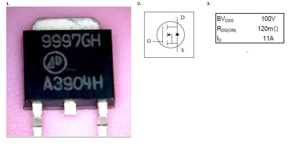 NEW AP9997GH Mosfet For LED Monitor Backlight Failure