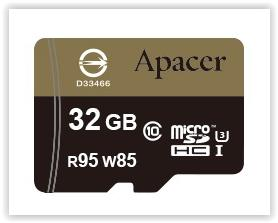 APACER MICROSD CARD 32GB UHS-I CL10 95MB/S WITH ADAPTER