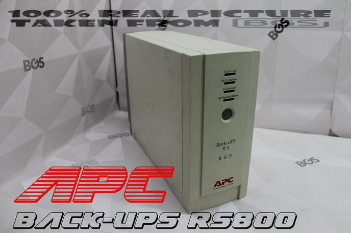 APC Back-UPS RS800 VA Tower UPS C/W APC ORIGINAL  New Battery