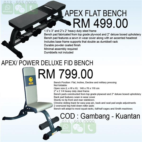 APEX/ POWER DELUXE FID BENCH , APEX FLAT BENCH