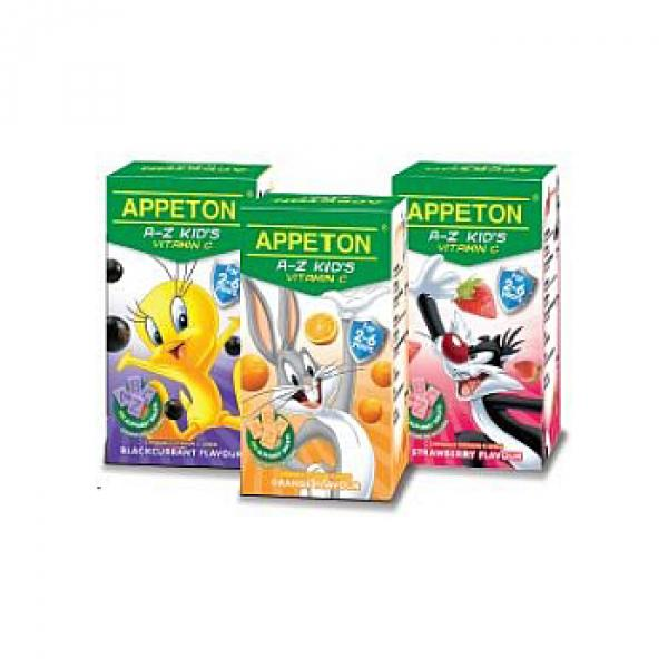 Appeton A-Z Kid's Vitamin C 100's X 3 (Orange,Strawberry,Blackcurrant)