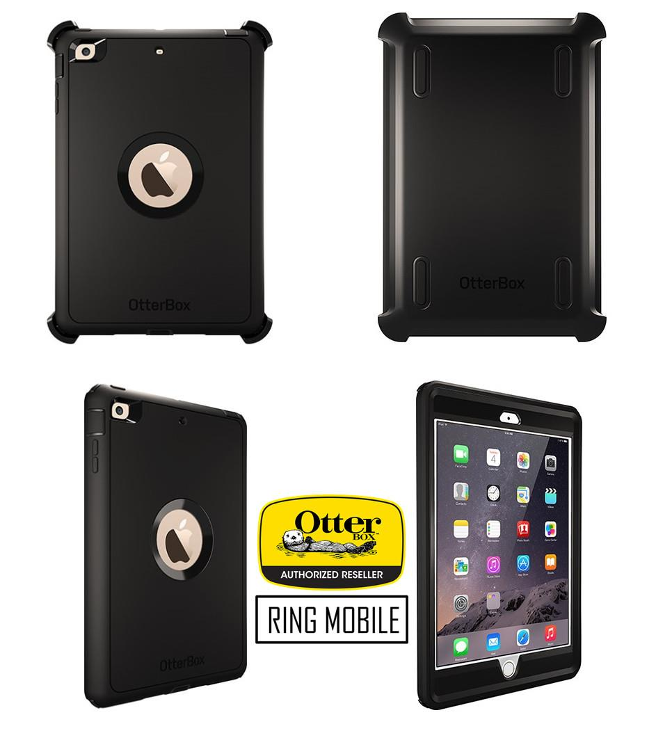 Apple iPad Mini 3 Retina Display Otterbox Defender Series Case - Black
