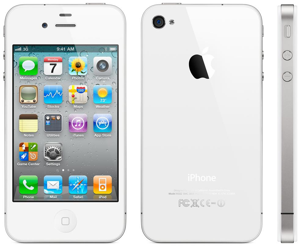 Apple iPhone 4 16GB White (Free Case, Tempered Glass)