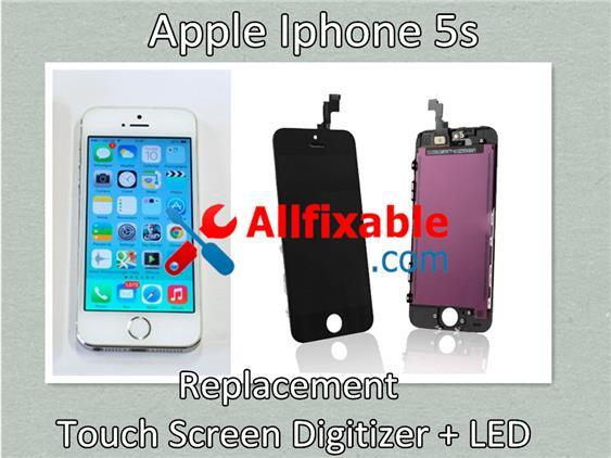 Apple Iphone 5s - Touch screen digitizer + LED replace change