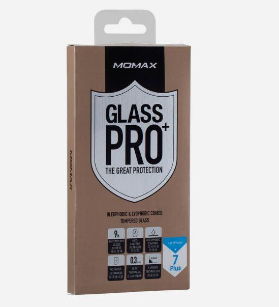 APPLE IPHONE 7 & 7 PLUS ORI MOMAX 0.3MM GLASS PRO PLUS Tempered Glass
