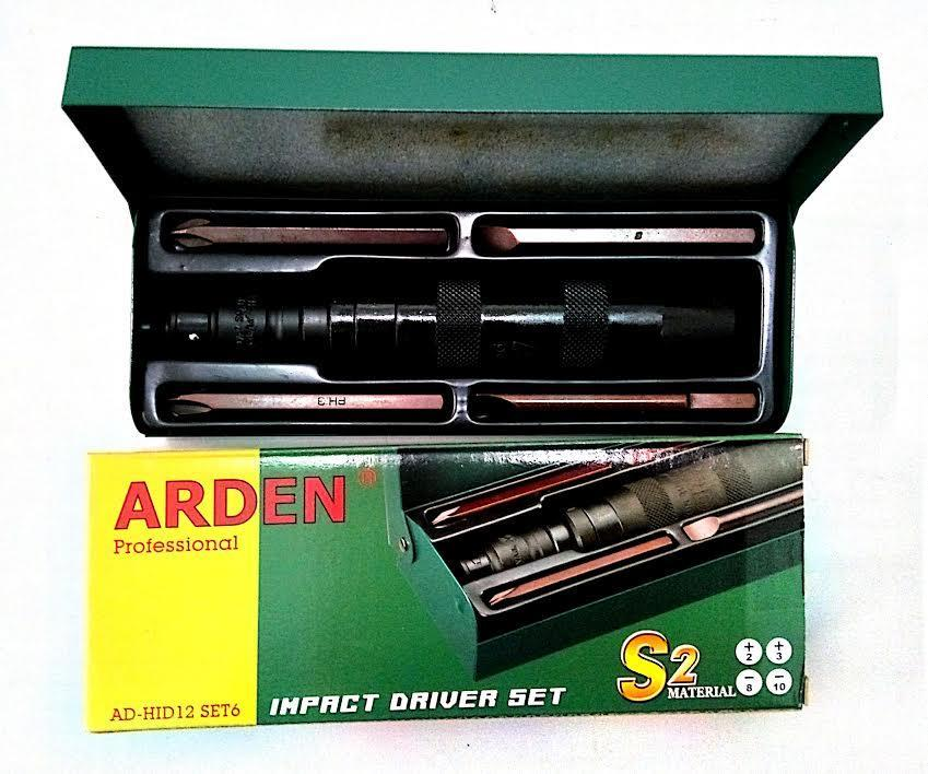 ARDEN AD-HID12 SET 6 IMPACT DRIVER SET -Stock Clearance