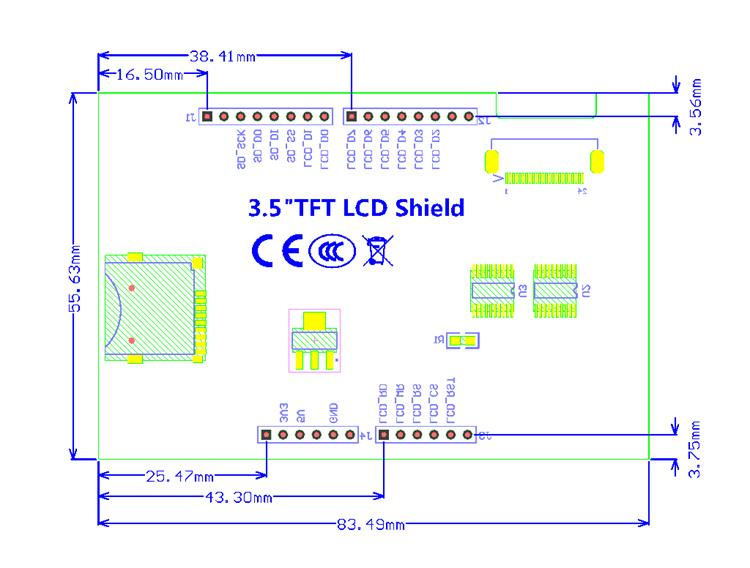 Arduino 3 5 Inch 320 480 Tft Lcd Touch Screen Shield Sd Card Slot Robotedu 191103118 2018 04 Sale Pon Tft Display Arduino Uno