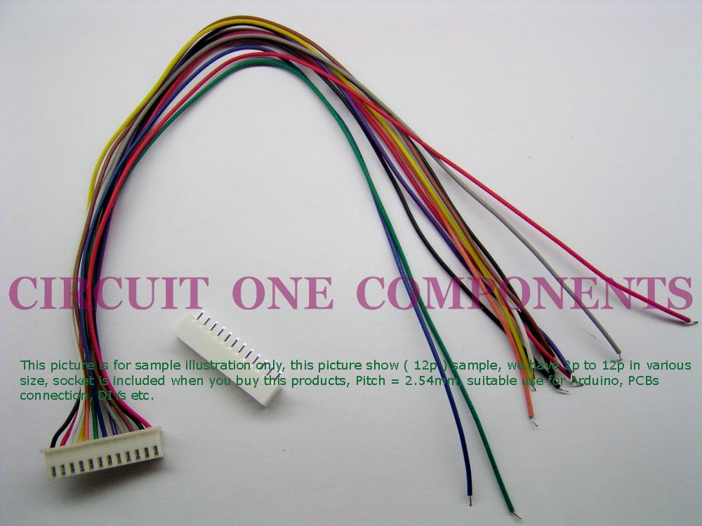 Arduino / PCBs Jumper Wire 1 Header XH2.54mm 8p ( 30cm )