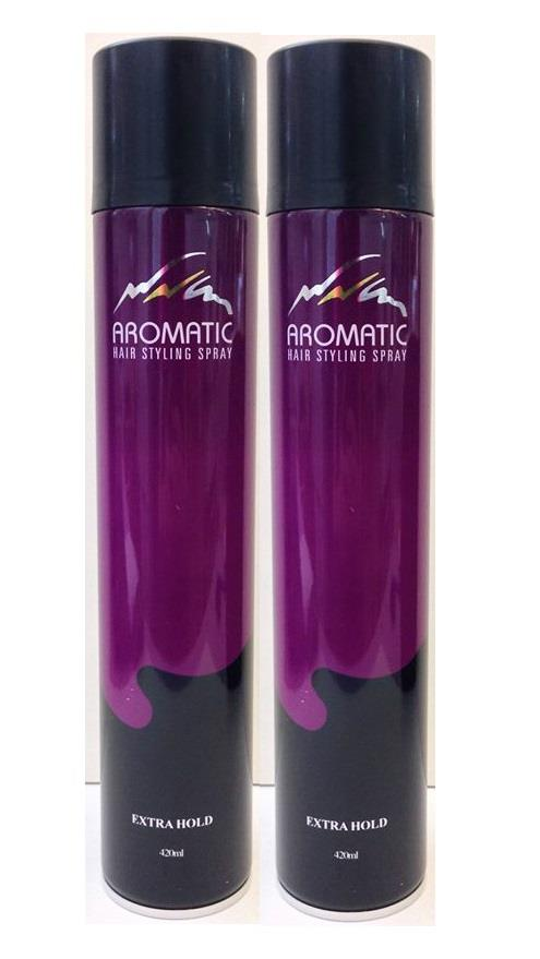 Aromatic Hair Styling Spray Extra Hold 420ml (twin offer)