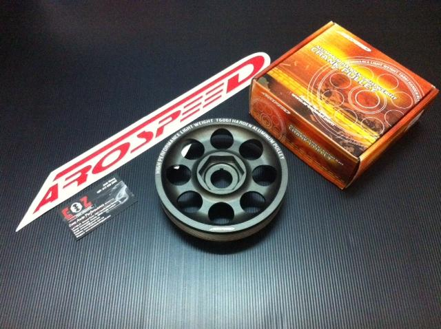 AROSPEED HARDEN LIGHTEN ALUMINIUM CRANK PULLEY HONDA JAZZ CITY 2002