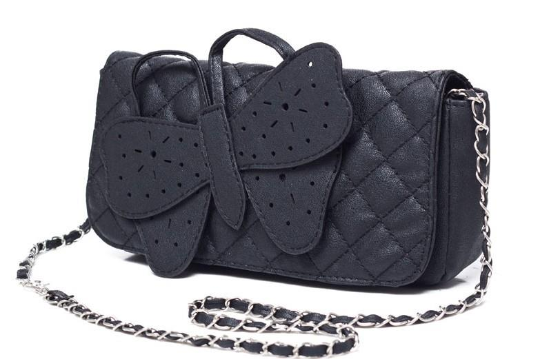 New Arrival Korea Butterfly Hollow Out Handbag Black
