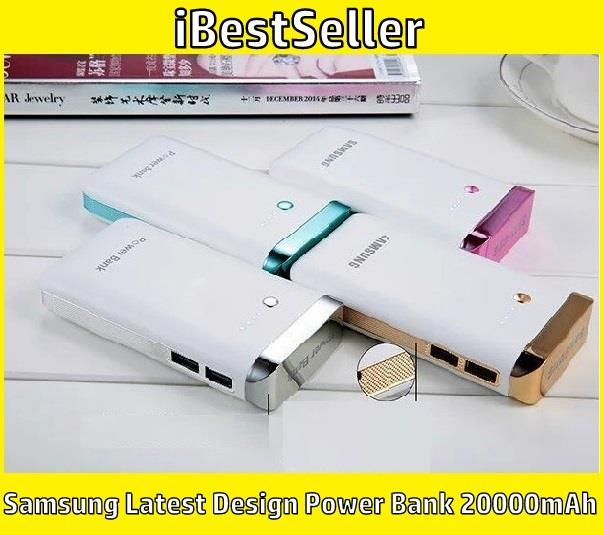 New Arrival Samsung Latest Design Colorful Power Bank 20000mAh