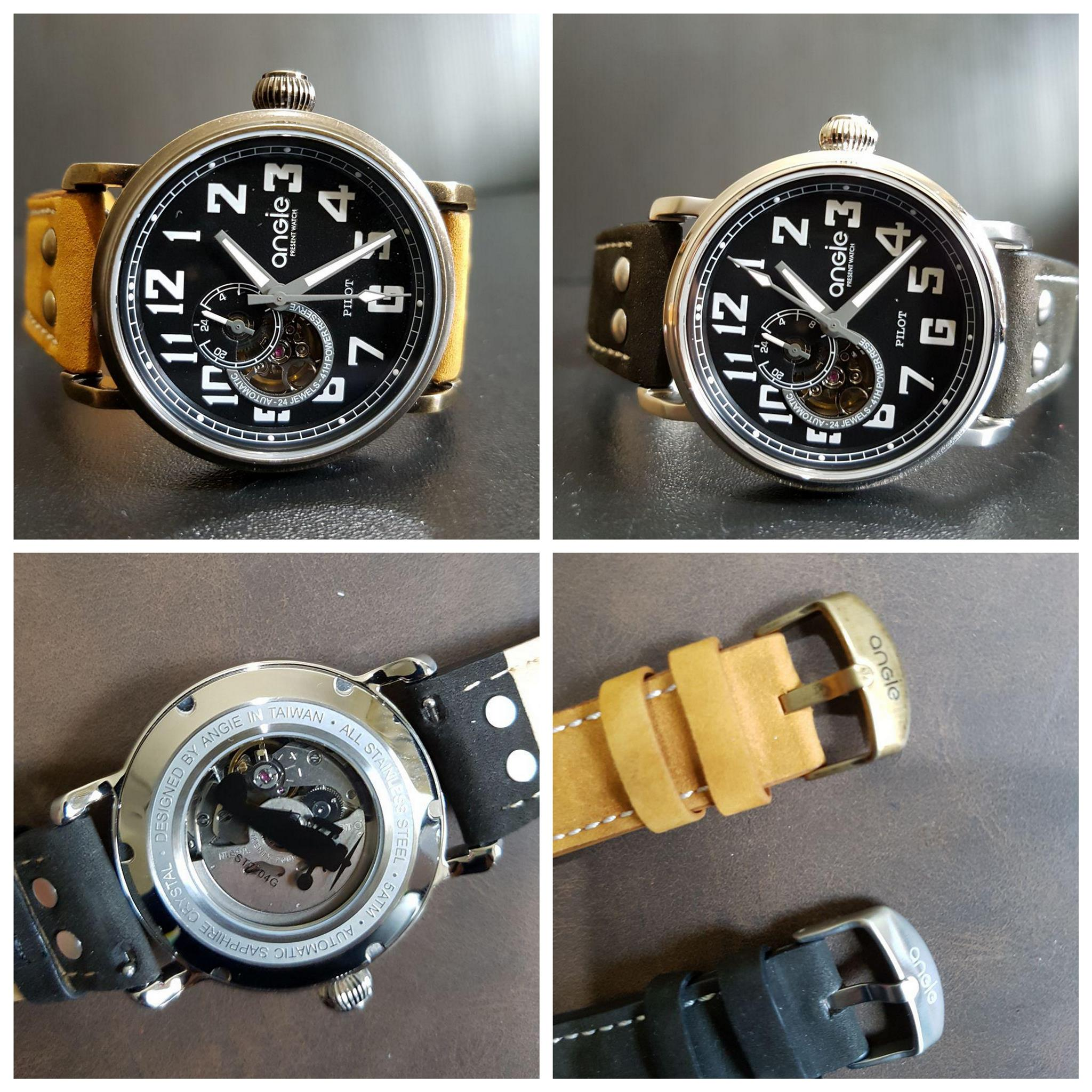 New Arrivals! Angie Pilot Automatic Bronze Watch 43mm Size Seiko NH 39