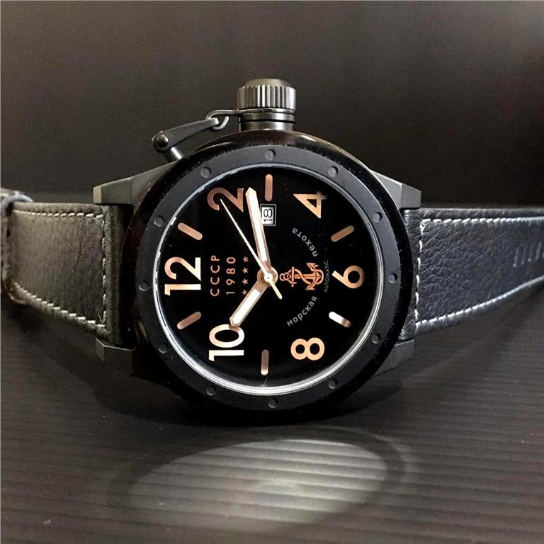 New Arrivals! CCCP Russia Delta Black Automatic 49mm