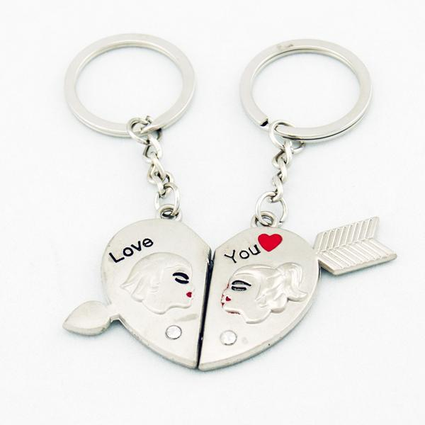 Arrow Across Our Heart Lover Couple Key Chain Keychain K49