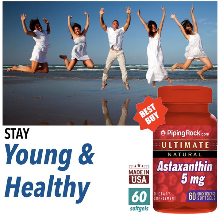 Astaxanthin 5mg, 60 Softgels, Ultimate & Natural, Anti-Oxident (USA)