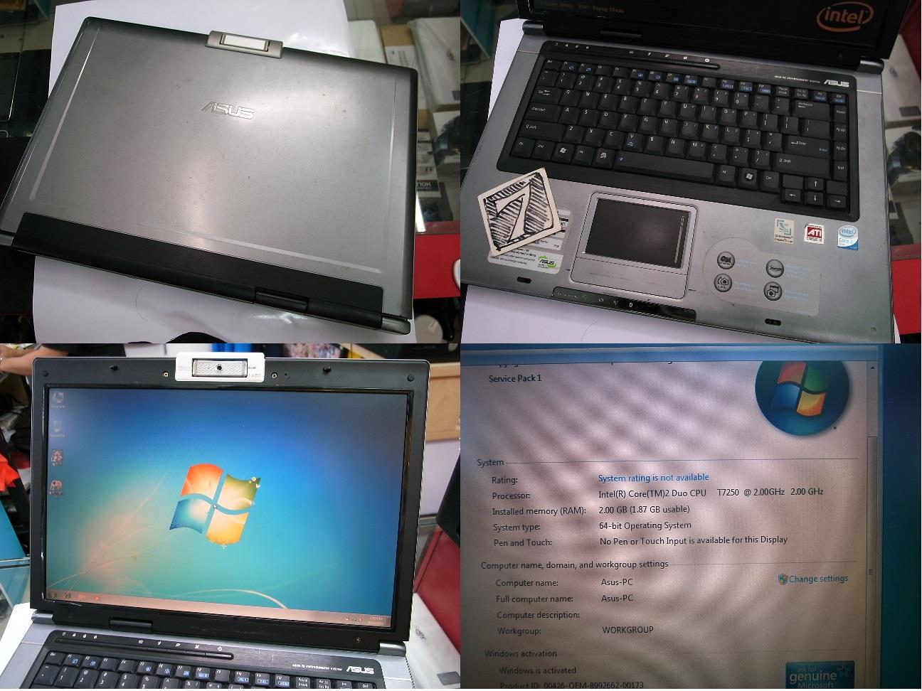 Asus F5RL 2.53GHz DVD Camera Laptop Notebook Rm530