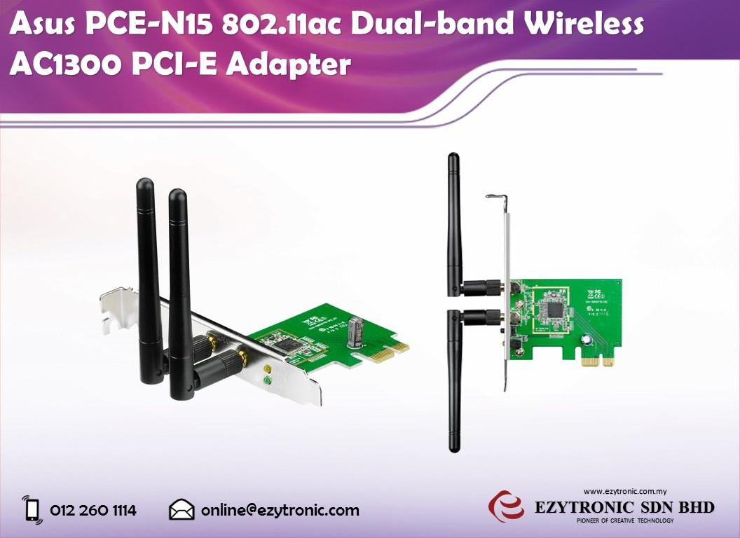 Asus PCE-N15 802.11ac Dual-band Wireless AC1300 PCI-E Adapter