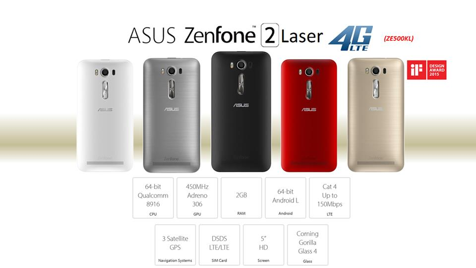 Image result for Zenfone 2 Laser ZE500KL