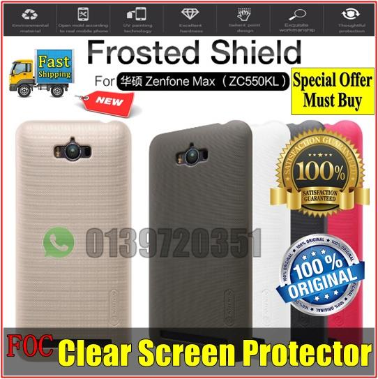 Asus Zenfone Max ZC550KL Nillkin Frosted Shield Hard Back Cover Casing
