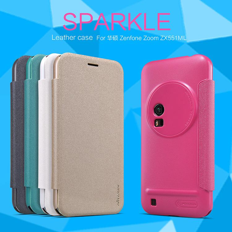 Asus Zenfone Zoom ZX551ML Nillkin Sparkle Series Leather Cover Case