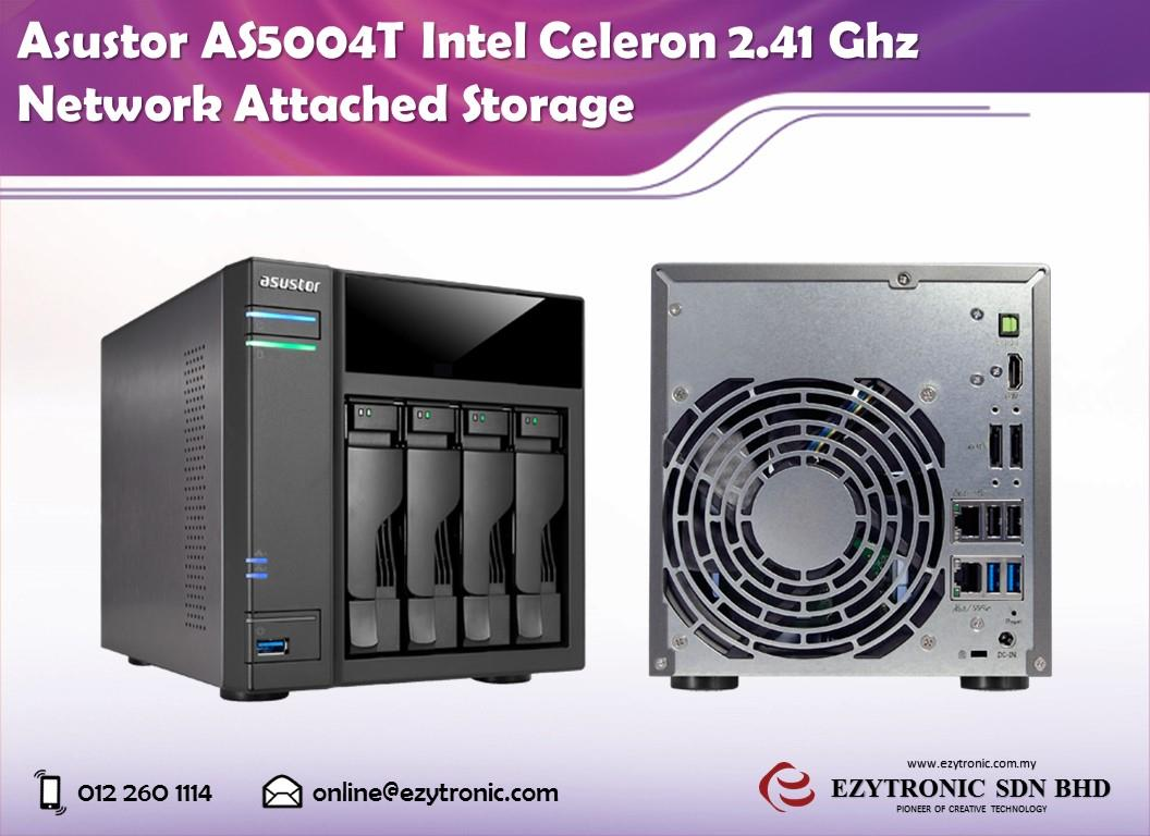 Asustor AS5004T Intel Celeron 2.41 Ghz Network Attached Storage