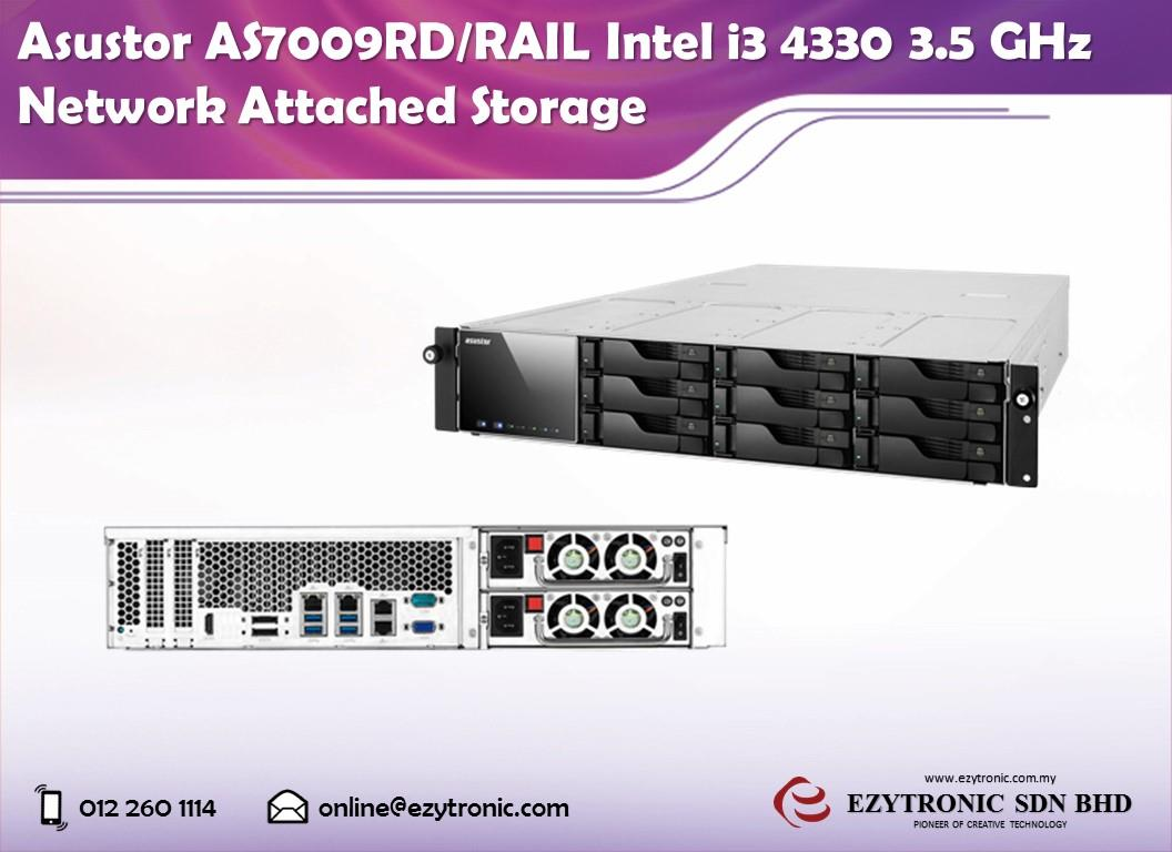Asustor AS7009RD/RAIL Intel i3 4330 3.5 GHz Network Attached Storage