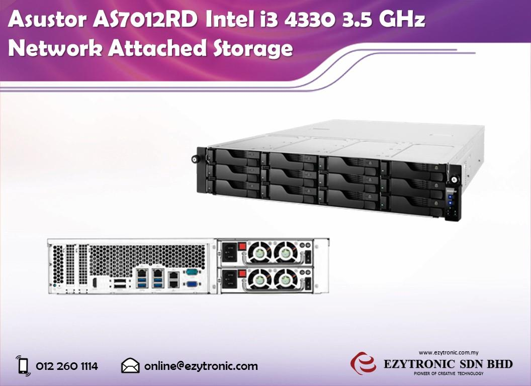 Asustor AS7012RD Intel i3 4330 3.5 GHz Network Attached Storage