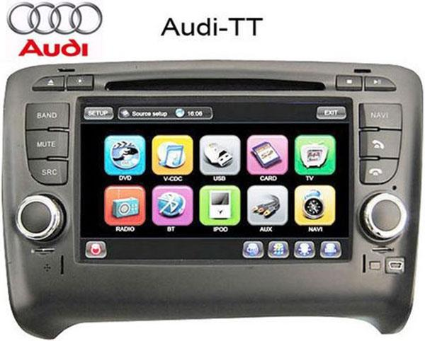 AUDI TT DLAA 8' Full HD Double Din GPS DVD VCD MP3 SD USB BT TV Player
