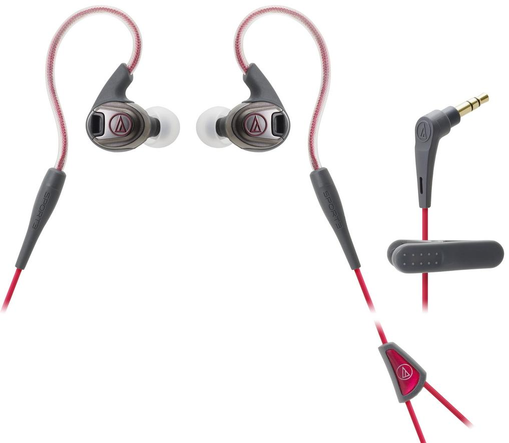 AUDIO-TECHNICA WIRED EARPHONE (ATH-SPORT3) RED