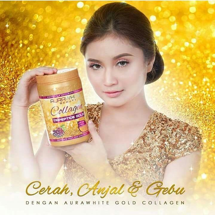 NEW AURAWHITE COLLAGEN TRIPEPTIDE GOLD