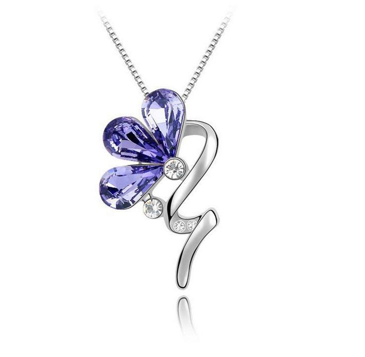 Austria Swarovski Elements Crystal Necklace - Gorgeous Bloom