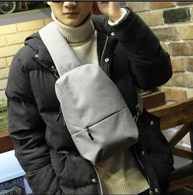 Authentic Korean version of the trendy fashion canvas male chest bag