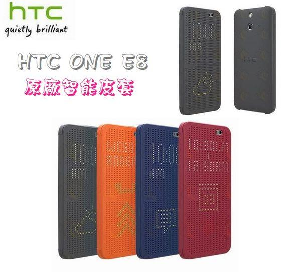 Authorized HTC One E8 Dot View Case Cover HC M110 ~ORIGINAL ~PURPLE