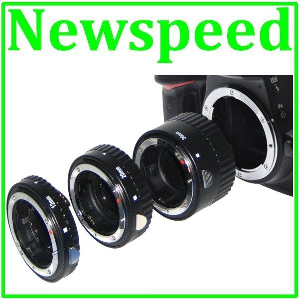 Auto Focus Macro Extension Tube Set for Canon DSLR Camera (Metal)