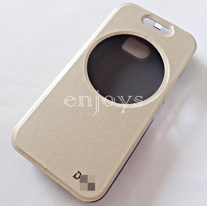 Auto Wake GOLD S View Soft Case Flip Cover HTC One M10 (HTC 10) ~5.2""