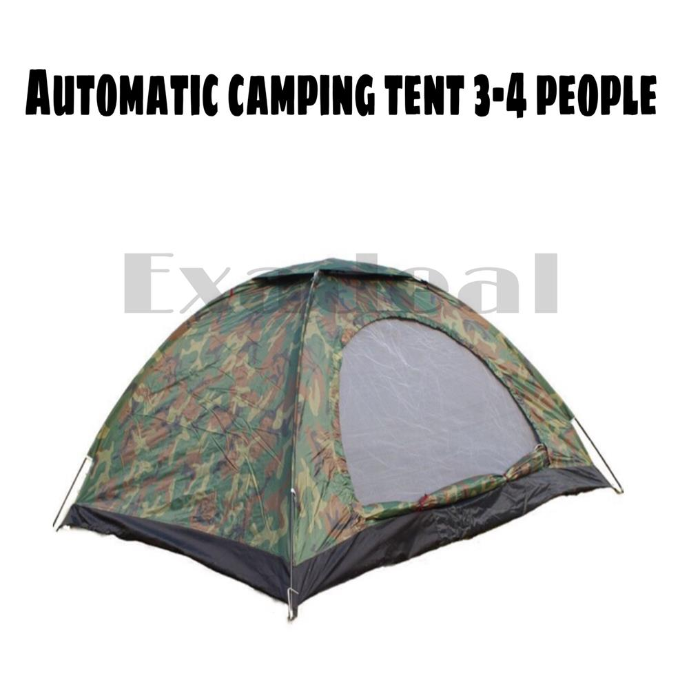 Automatic Camping Tent Outdoor Picnic Tent Berkemah Hiking Sleep Tent