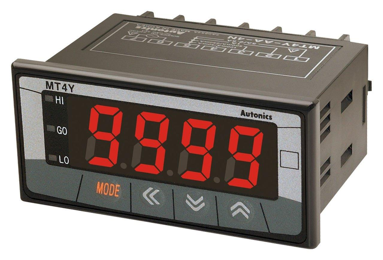 AUTONICS Panel Meter MT4Y-DA-4N, LED, 4 Digit, 0-5A Input
