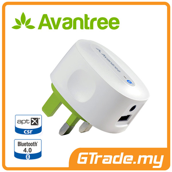 AVANTREE Bluetooth Adapter Receiver 4.0 Audio aptX Charger Roxa