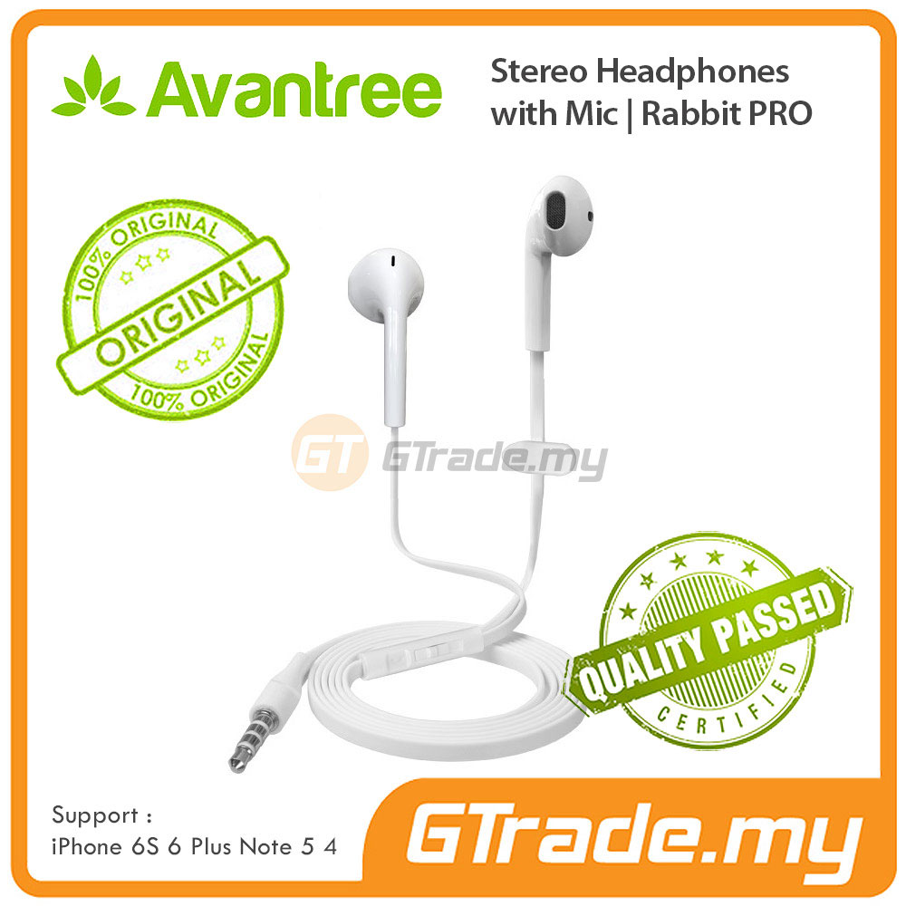AVANTREE Headphone Earphones For Smartphone with Mic | Rabbit PRO