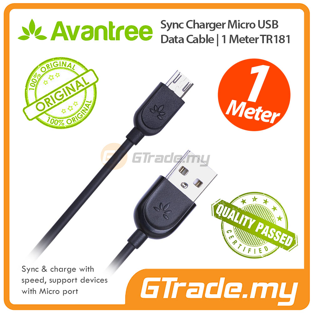 AVANTREE Micro USB Cable 1M Samsung Galaxy Note 5 4 3 2 A7 A5