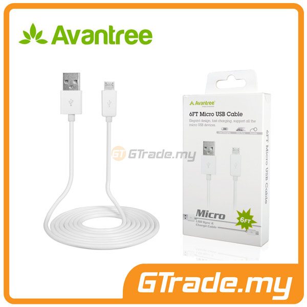 AVANTREE Micro USB Cable Samsung Galaxy Note Tab S2 S A 4 Tablet