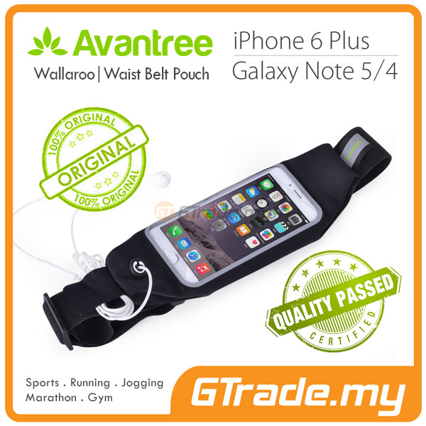 AVANTREE Waist Bag Running Pouch WLR Samsung Galaxy S7 S6 Edge S5 S4