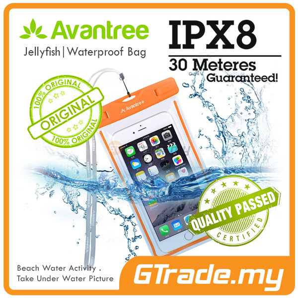 AVANTREE Waterproof Bag Case Universal OR Samsung Galaxy S8 S7 S6 Edge